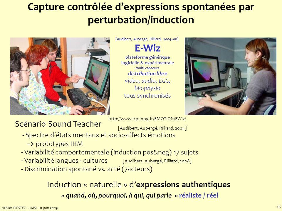 Atelier PIRSTEC - LIMSI - 11 juin 2009 15 multi-modality / multi-processing .