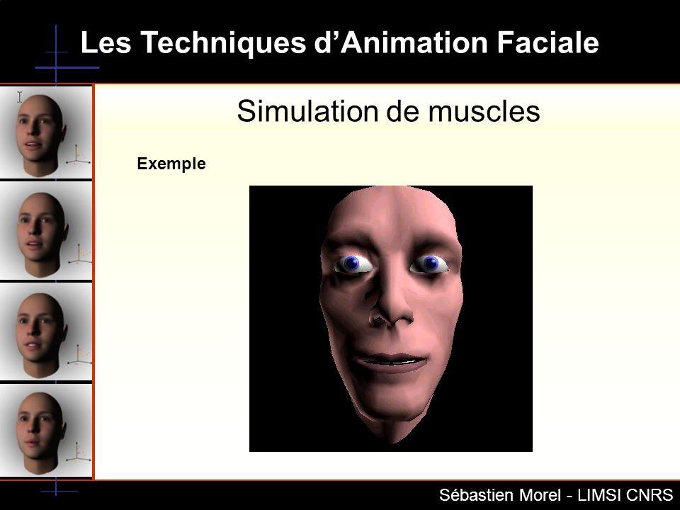 Les Techniques dAnimation Faciale Sébastien Morel - LIMSI CNRS