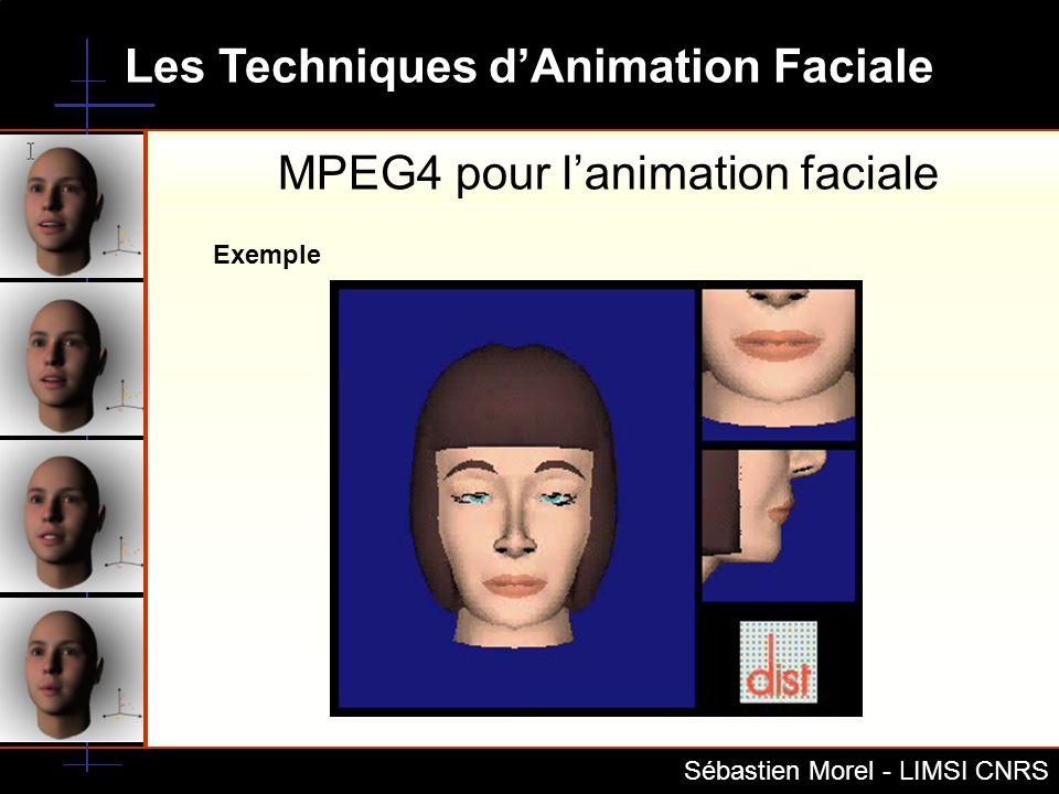Les Techniques dAnimation Faciale Sébastien Morel - LIMSI CNRS Exemple MPEG4 pour lanimation faciale