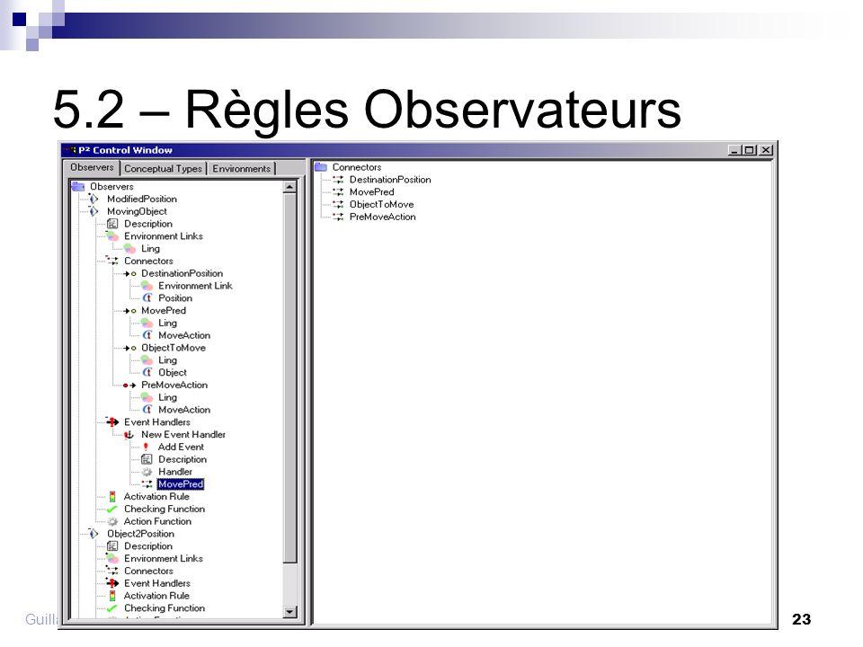 Guillaume Pitel - Exposé Groupe AMI 19/11/2002 23 5.2 – Règles Observateurs