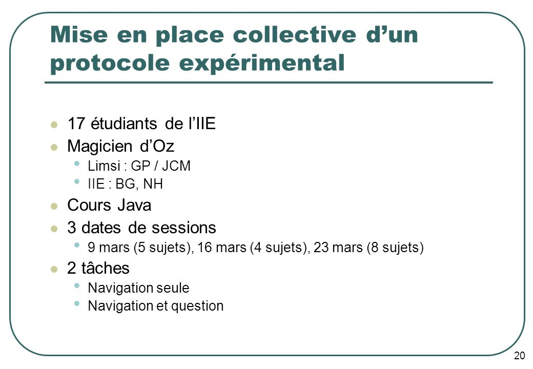 21 Enregistrement de la session