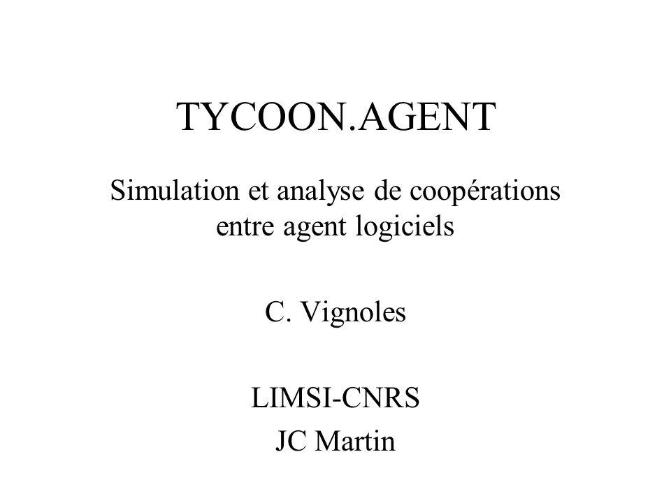 TYCOON.AGENT Simulation et analyse de coopérations entre agent logiciels C.
