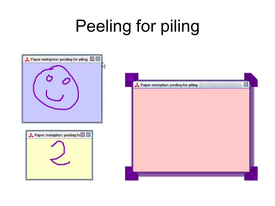 Peeling for piling