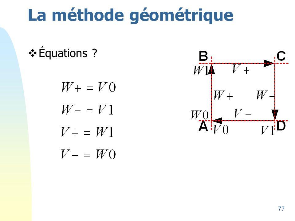 77 La méthode géométrique Équations