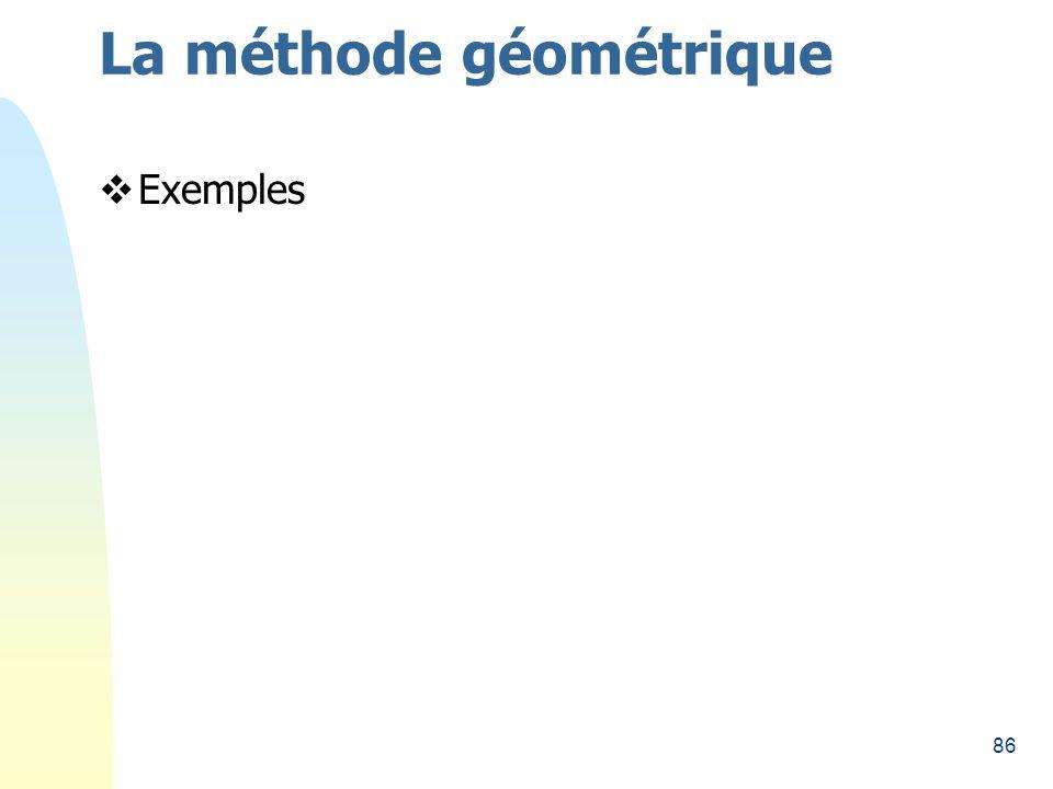 86 La méthode géométrique Exemples