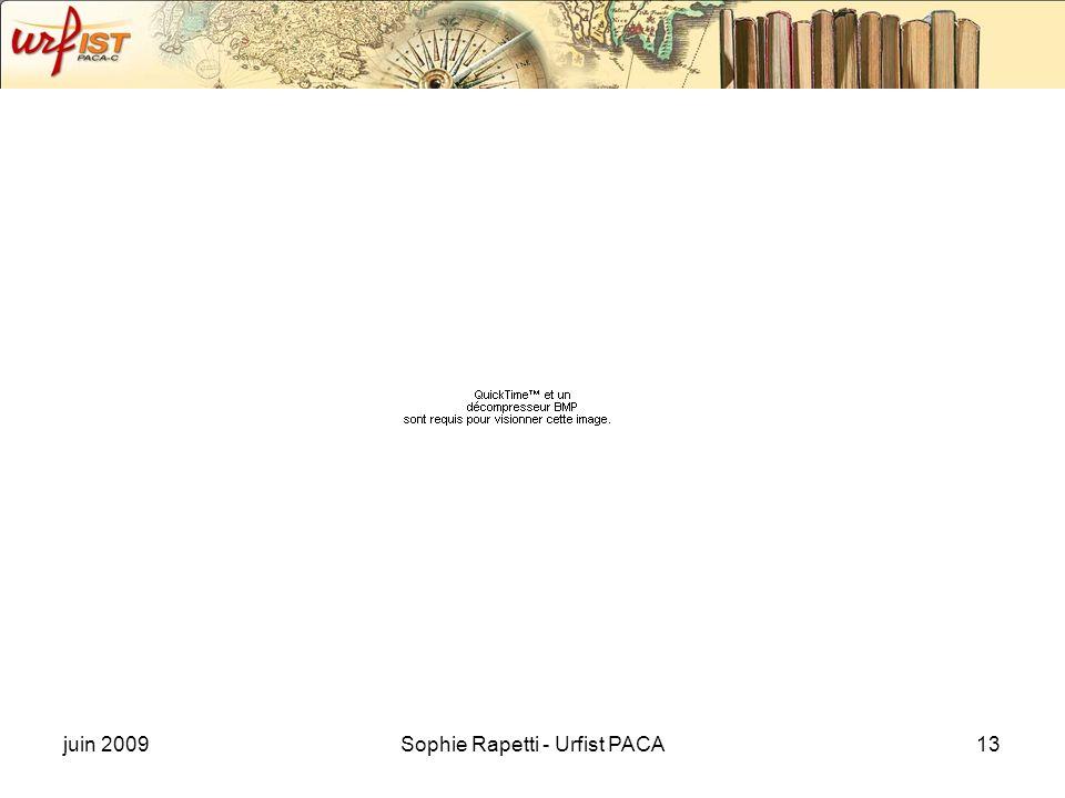 juin 2009Sophie Rapetti - Urfist PACA13