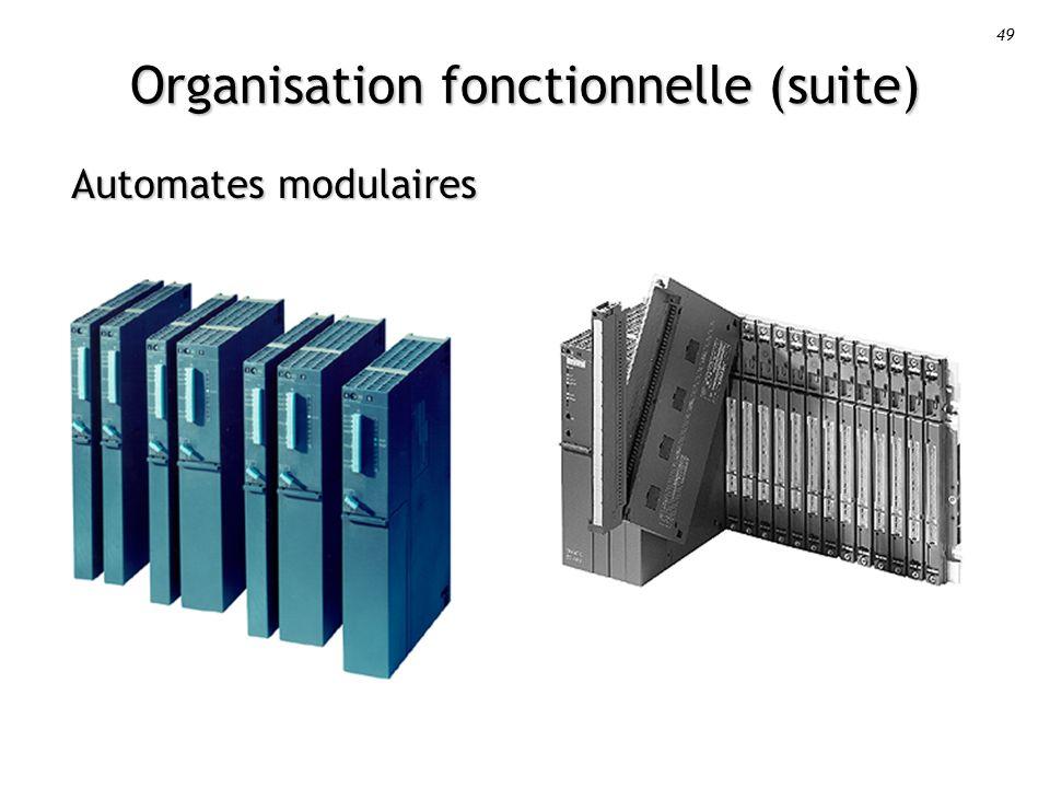 49 Organisation fonctionnelle (suite) Automates modulaires