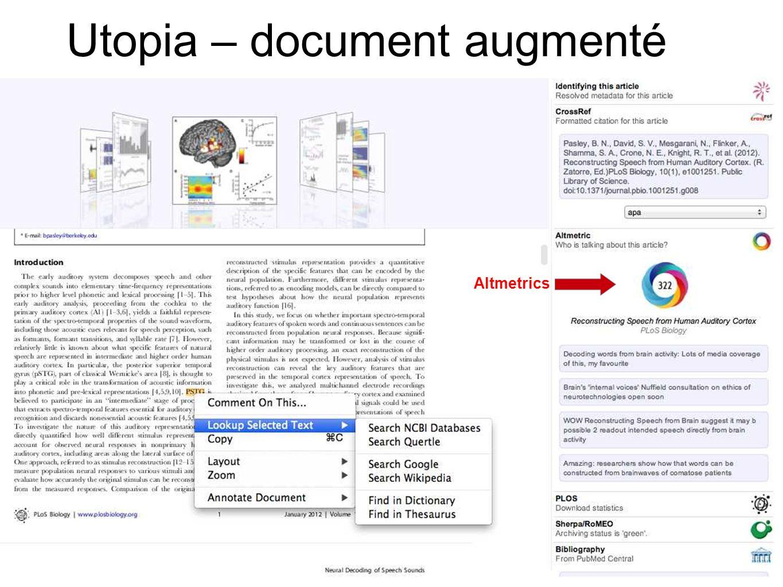 Utopia – document augmenté Altmetrics