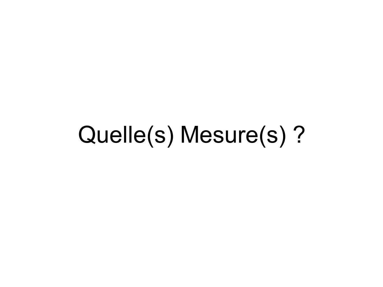 Quelle(s) Mesure(s) ?