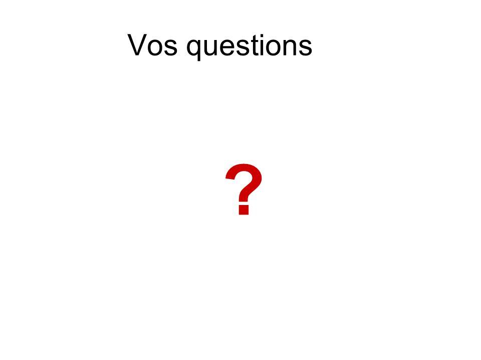 Vos questions ?