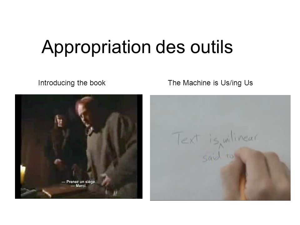 Appropriation des outils The Machine is Us/ing UsIntroducing the book