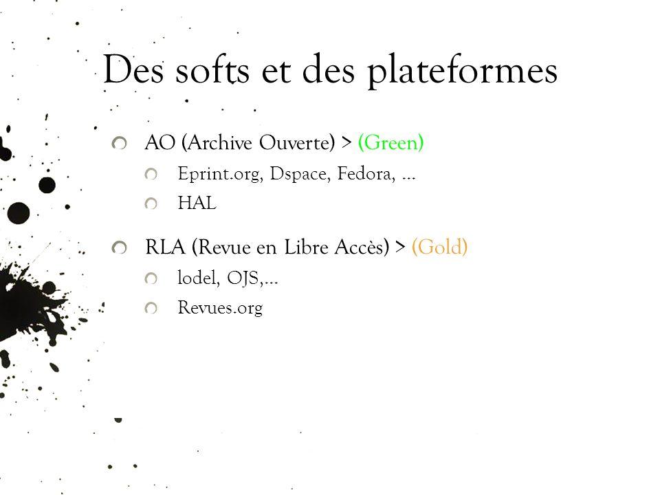 Des softs et des plateformes AO (Archive Ouverte) > (Green) Eprint.org, Dspace, Fedora,...