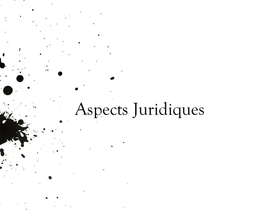 Aspects Juridiques