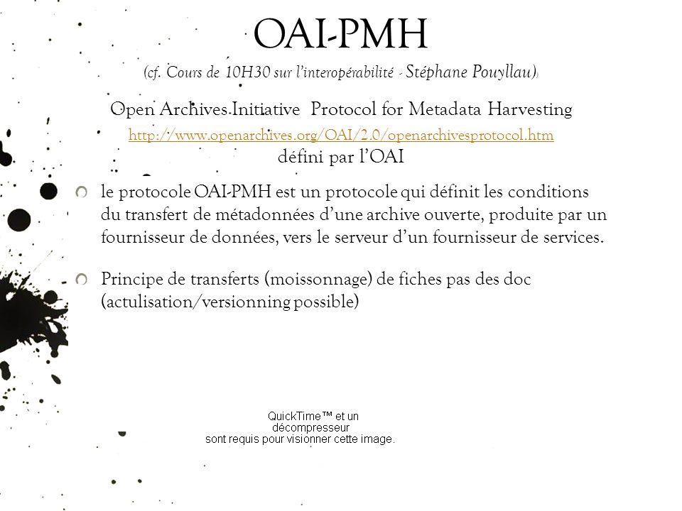 OAI-PMH (cf.