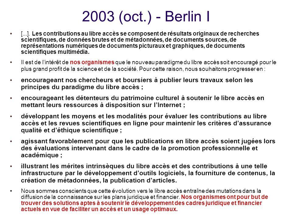 2003 (oct.) - Berlin I [...].