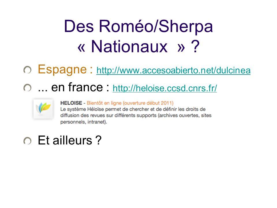 Des Roméo/Sherpa « Nationaux » .