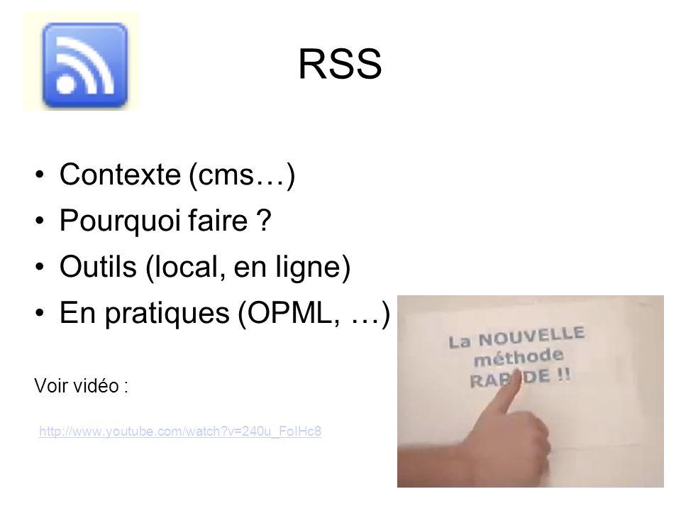 RSS Contexte (cms…) Pourquoi faire .