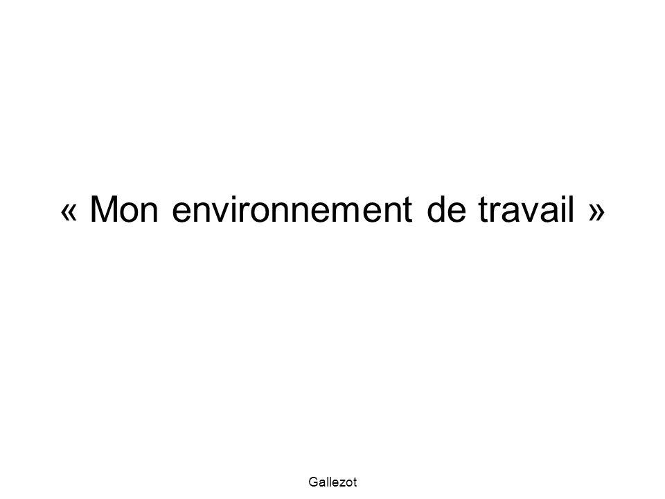Gallezot « Mon environnement de travail »