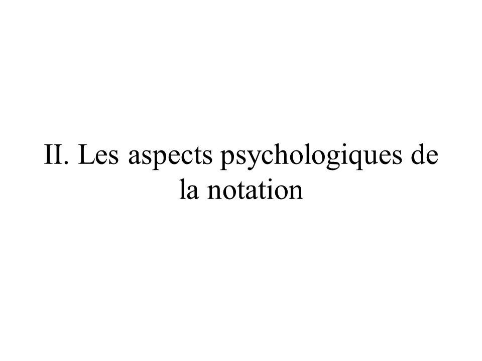 II. Les aspects psychologiques de la notation