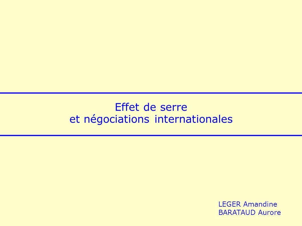 2 Effet de serre et négociations internationales Leffet de serre : un phénomène naturel......