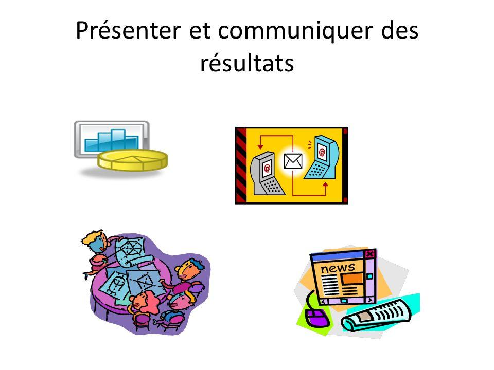 Présenter et communiquer des résultats