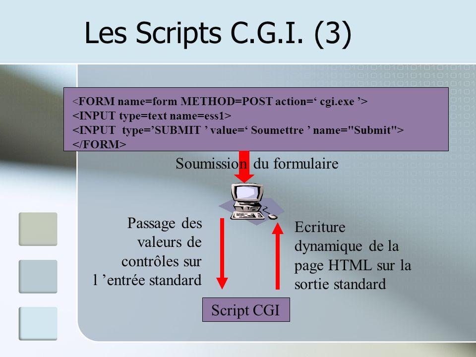 Les Scripts C.G.I.