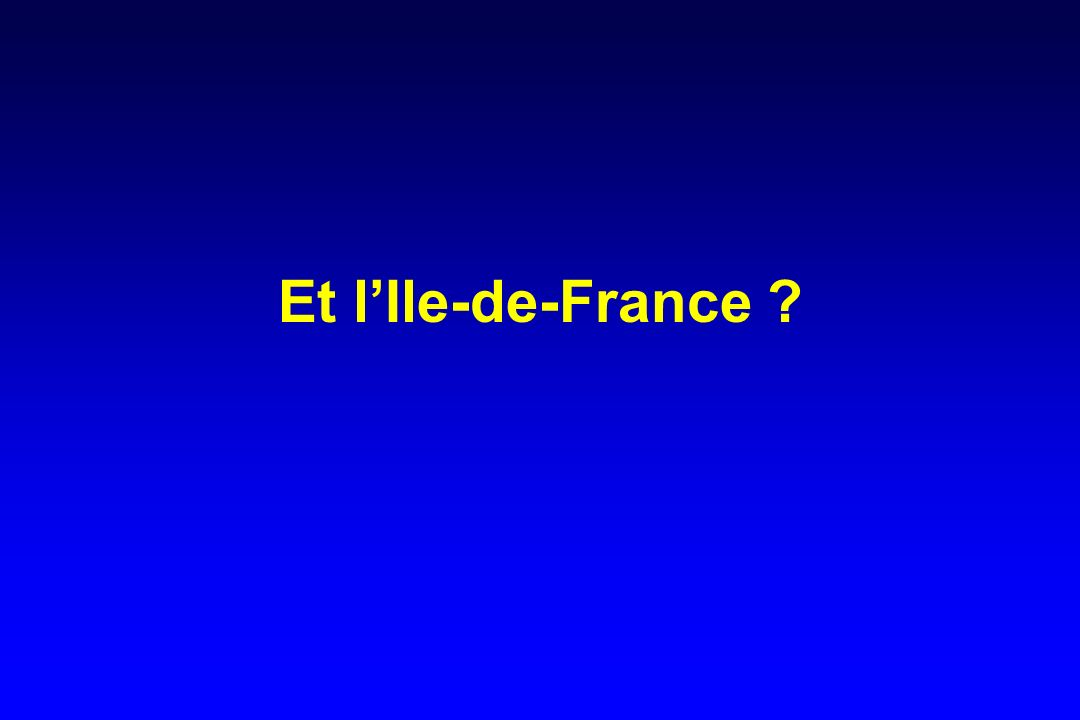 Et lIle-de-France ?