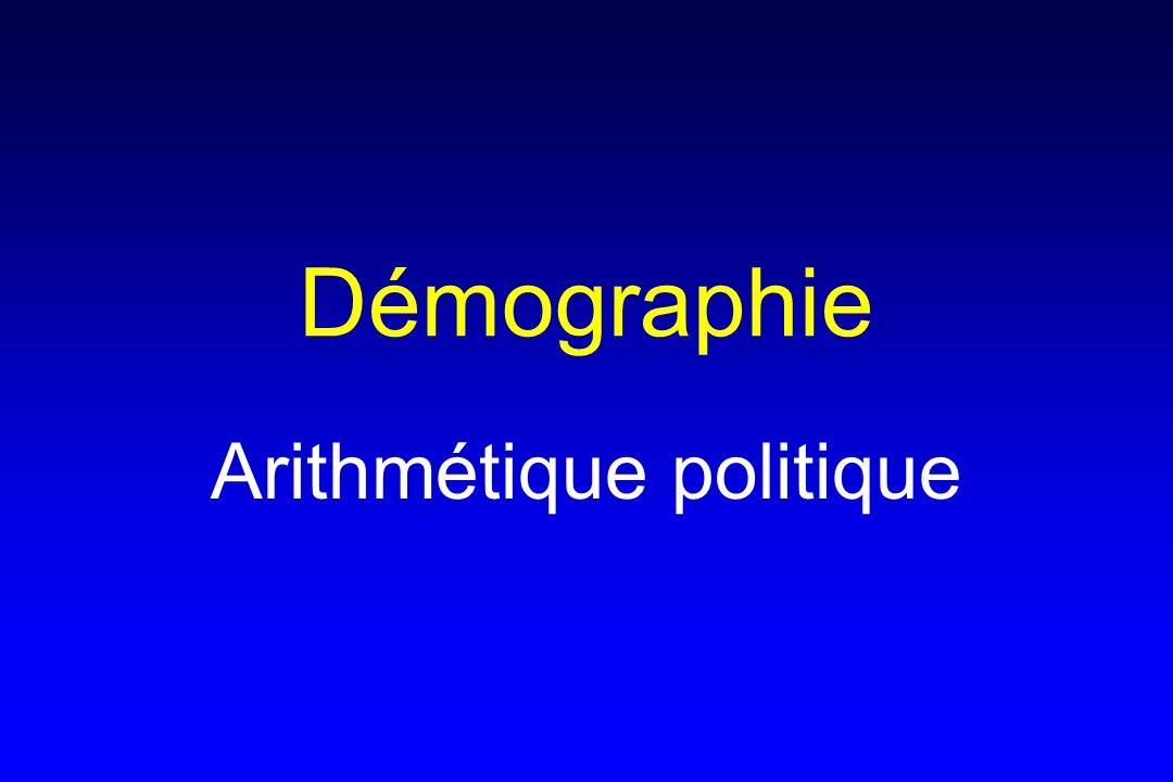 Démographie Arithmétique politique