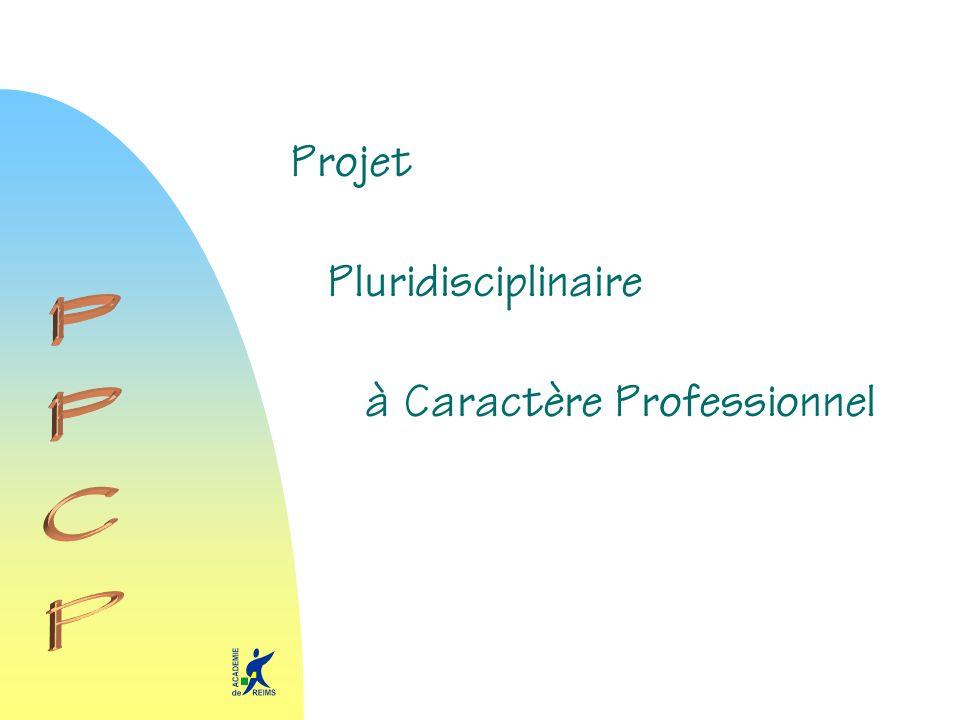 Projet à Caractère Professionnel Pluridisciplinaire