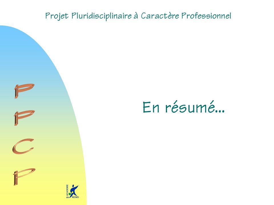 Projet Pluridisciplinaire à Caractère Professionnel En résumé...