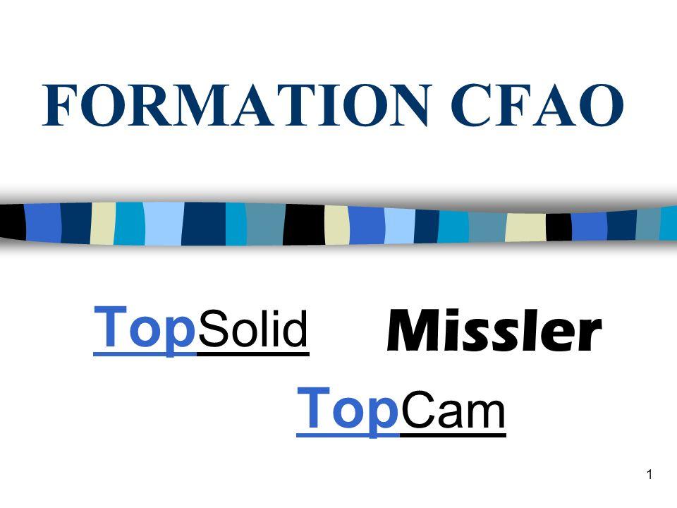 1 FORMATION CFAO Top Solid Top Cam Missler