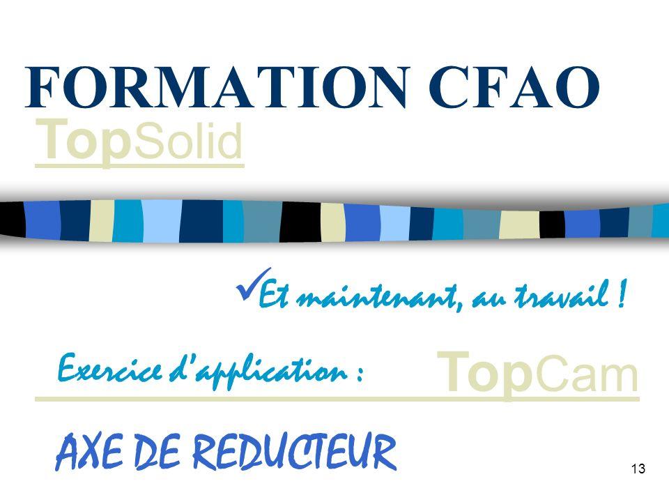12 Générer les codes en fonction du post - processeur de votre machine Lédition papier du programme se fait avec le bloc notes FORMATION CFAO GENERATI
