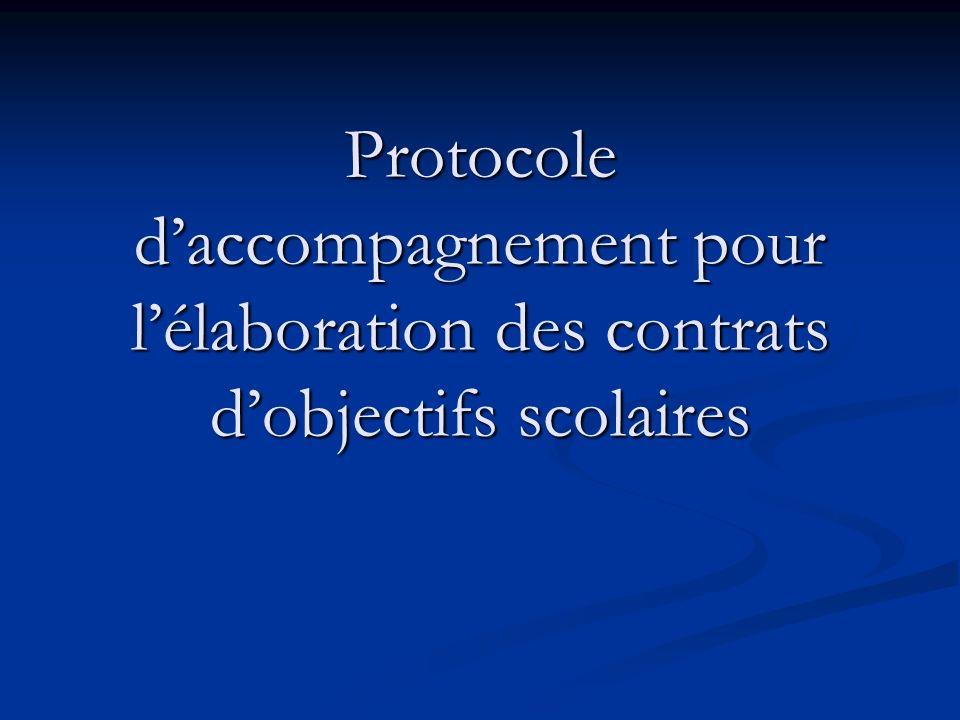 Protocole daccompagnement pour lélaboration des contrats dobjectifs scolaires