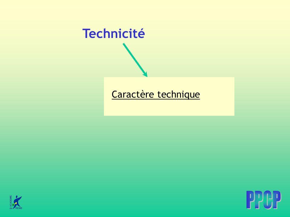 Technicité Caractère technique