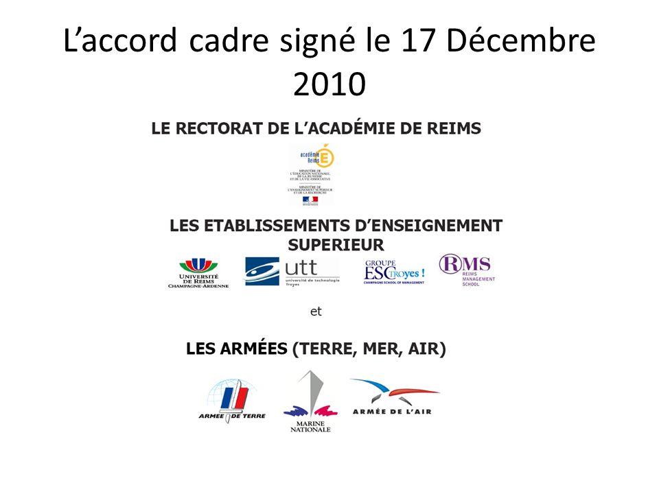 Laccord cadre signé le 17 Décembre 2010