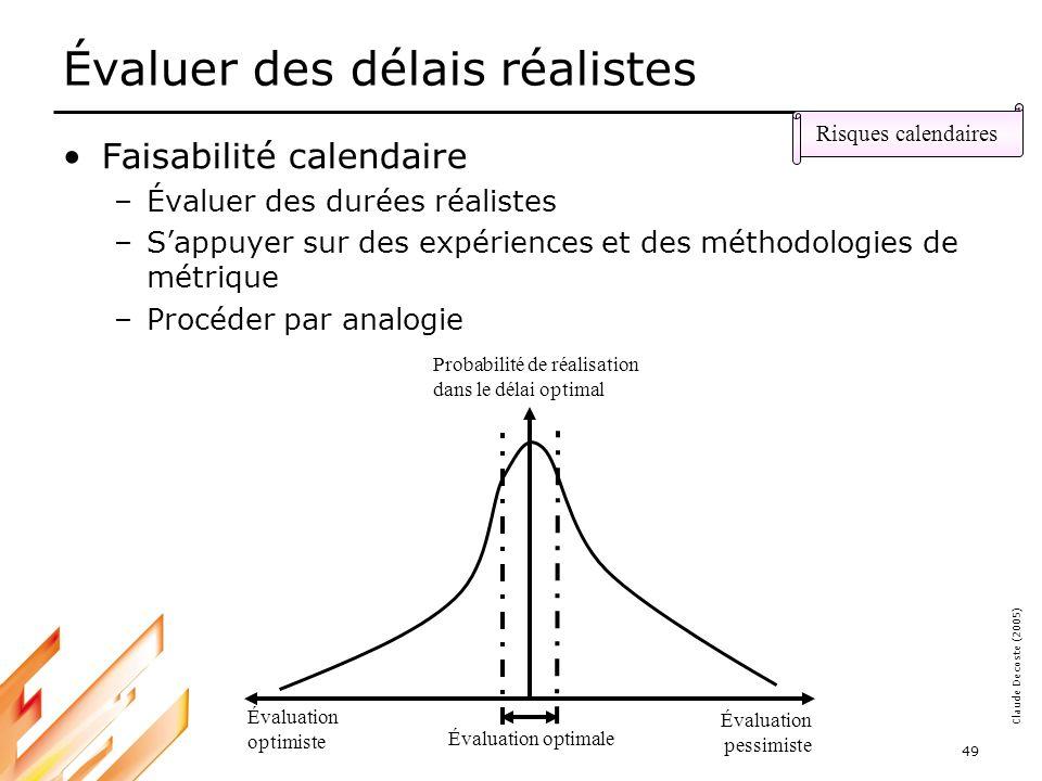 05-03-18 50 Claude Decoste (2005) Assurer le financement Disponibilité des budgets au bon moment –Origine et accessibilité des fonds –Qui finance quoi et quand dans le projet .