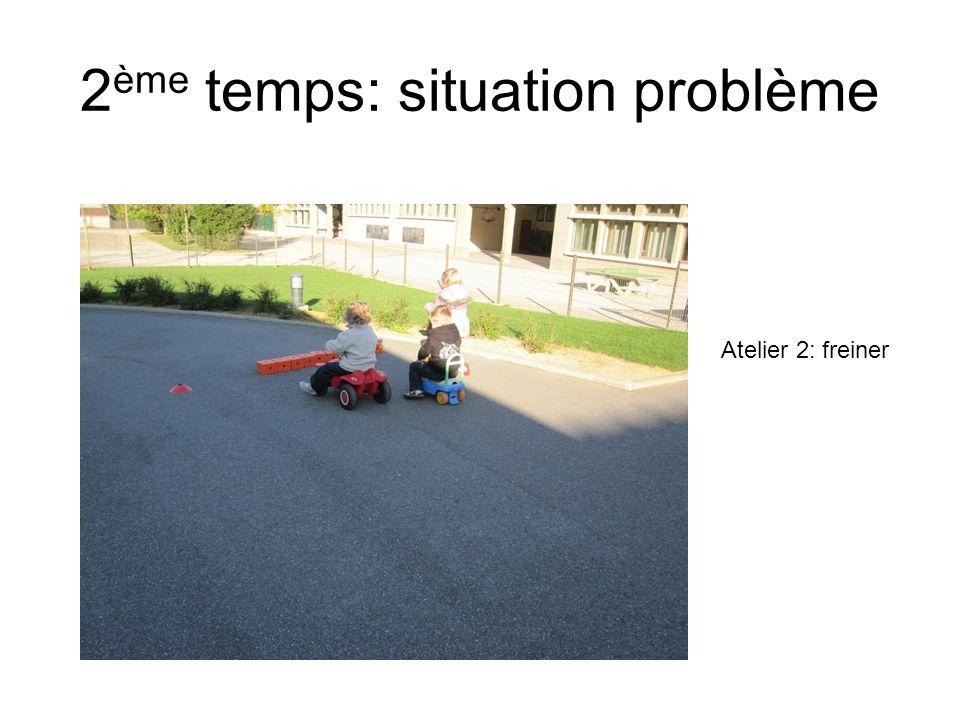 2 ème temps: situation problème Atelier 2: freiner