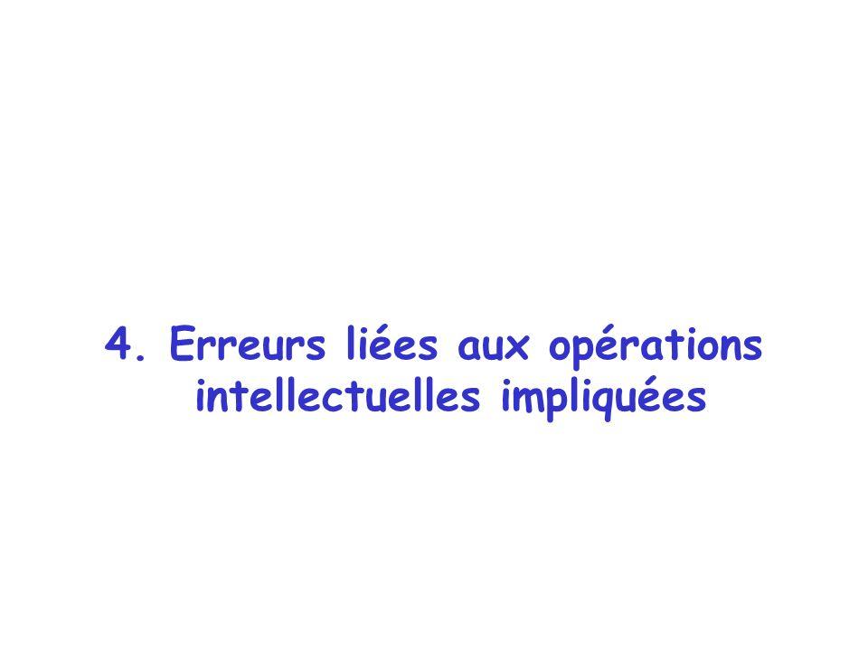 4. Erreurs liées aux opérations intellectuelles impliquées