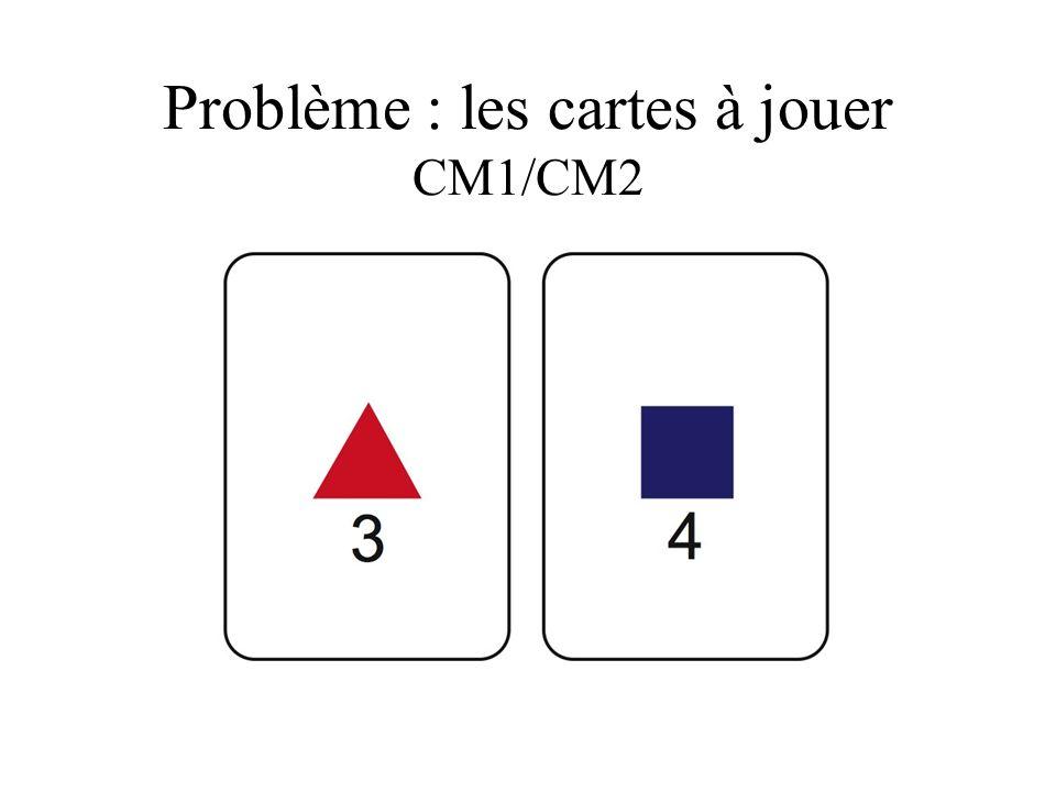 Problème : les cartes à jouer CM1/CM2