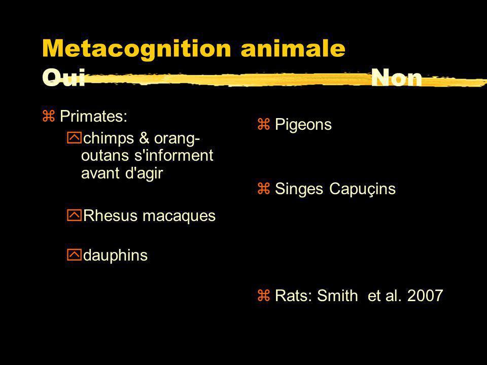 Tâche de discrimination perceptive: Smith et al., 2003 0 10 20 30 40 50 60 70 80 90 100 12501650205024502850 Box Density (pixels) Monkey Sparse Dense Uncertain 0 10 20 30 40 50 60 70 80 90 100 12501650205024502850 Box Density (normalized pixels) Humans Sparse Dense Uncertain M