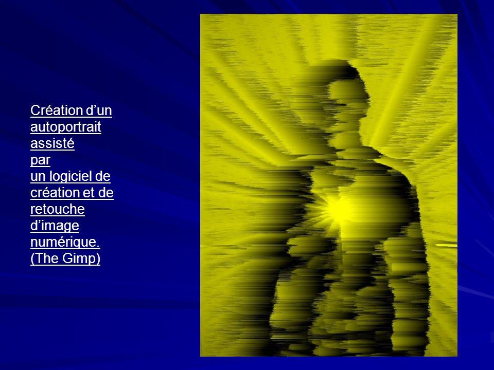Création dun autoportrait assisté par un logiciel de création et de retouche dimage numérique.
