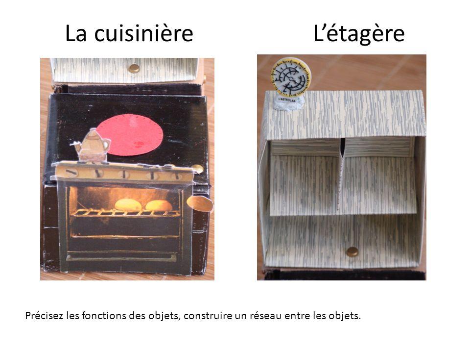 La cuisinière Létagère Précisez les fonctions des objets, construire un réseau entre les objets.