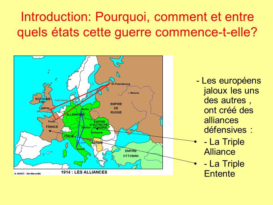 LA PREMIERE GUERRE MONDIALE Pour réaliser ce diaporama, jai utilisé -Les cartes et diagrammes de Alain Houot (académie Aix Marseille) : http://perso.wanadoo.fr/alain.houot/ http://perso.wanadoo.fr/alain.houot/ -Les images et photos du site du collège de Moulin des prés (académie de Paris) :http://mapage.noos.fr/moulinhg/Histoire/1.guerre.mondiale/grande.guerre.