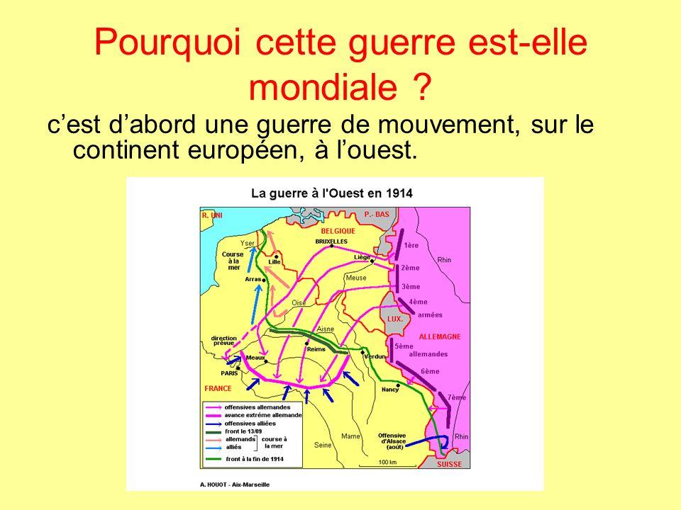 Mais le front se stabilise sur 700 km dans le nord de la France : cest la guerre de position.