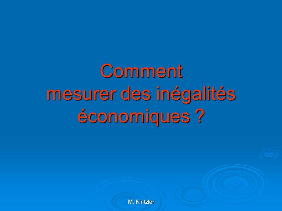 M. Kintzler Comment mesurer des inégalités économiques ?