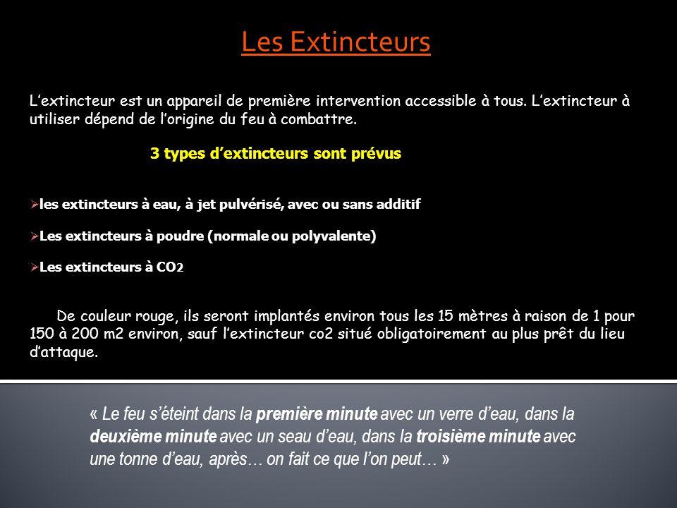 Les Extincteurs Lextincteur est un appareil de première intervention accessible à tous. Lextincteur à utiliser dépend de lorigine du feu à combattre.