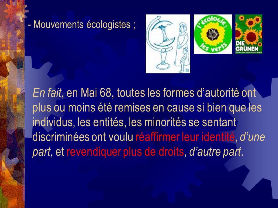Q° 5 : Dans quel domaine se situent les enjeux de Mai 68 selon le sociologue Alain Touraine .