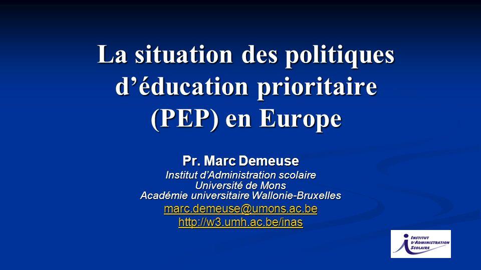 Pr. Marc Demeuse Institut dAdministration scolaire Université de Mons Académie universitaire Wallonie-Bruxelles marc.demeuse@umons.ac.be http://w3.umh