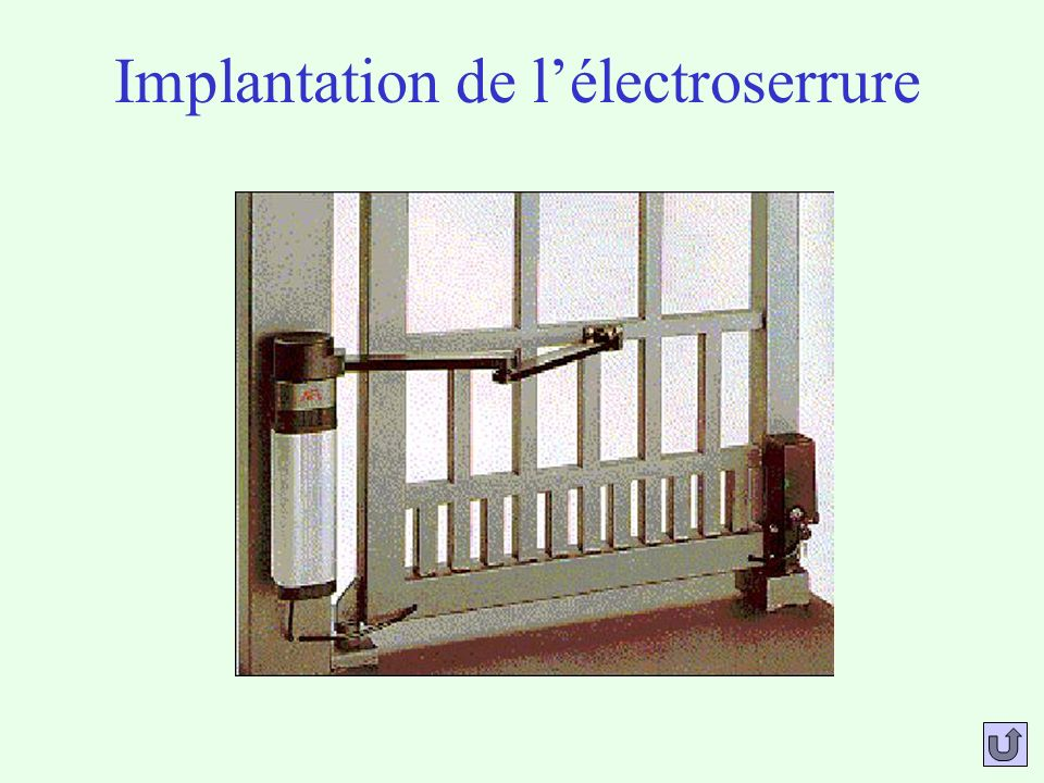 Implantation de lélectroserrure
