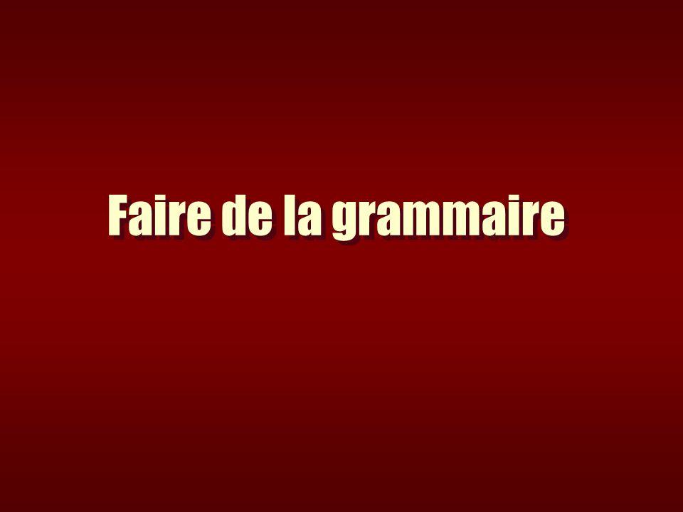 Les connaissances et compétences en grammaire conjugaison en vocabulaire en orthographe